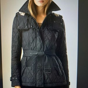Black Burberry jacket
